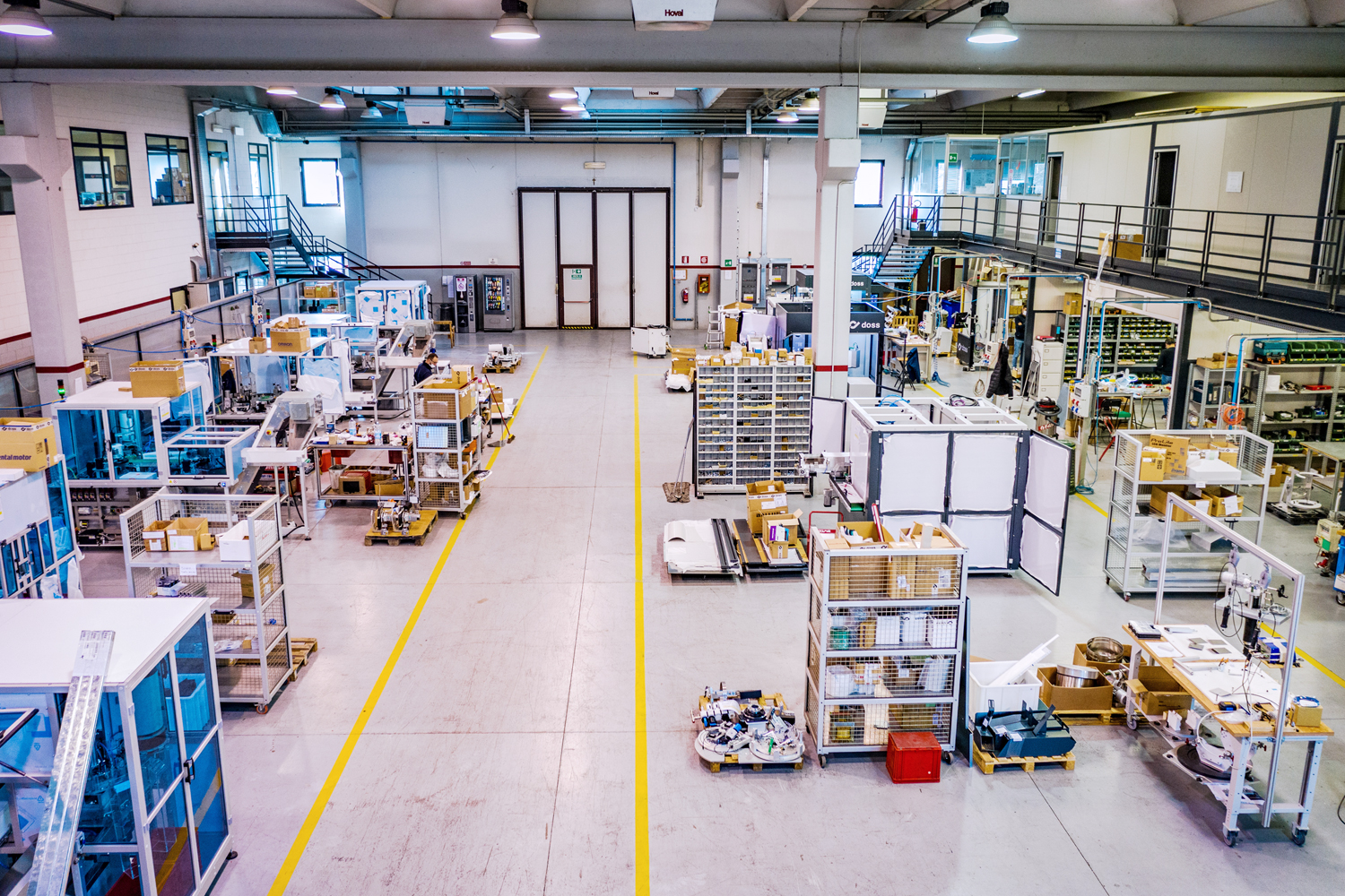 Third straight on view Doss factory floor in Italy