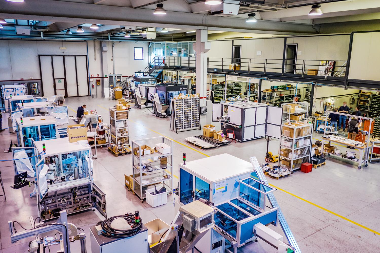 Third Doss factory floor in Italy