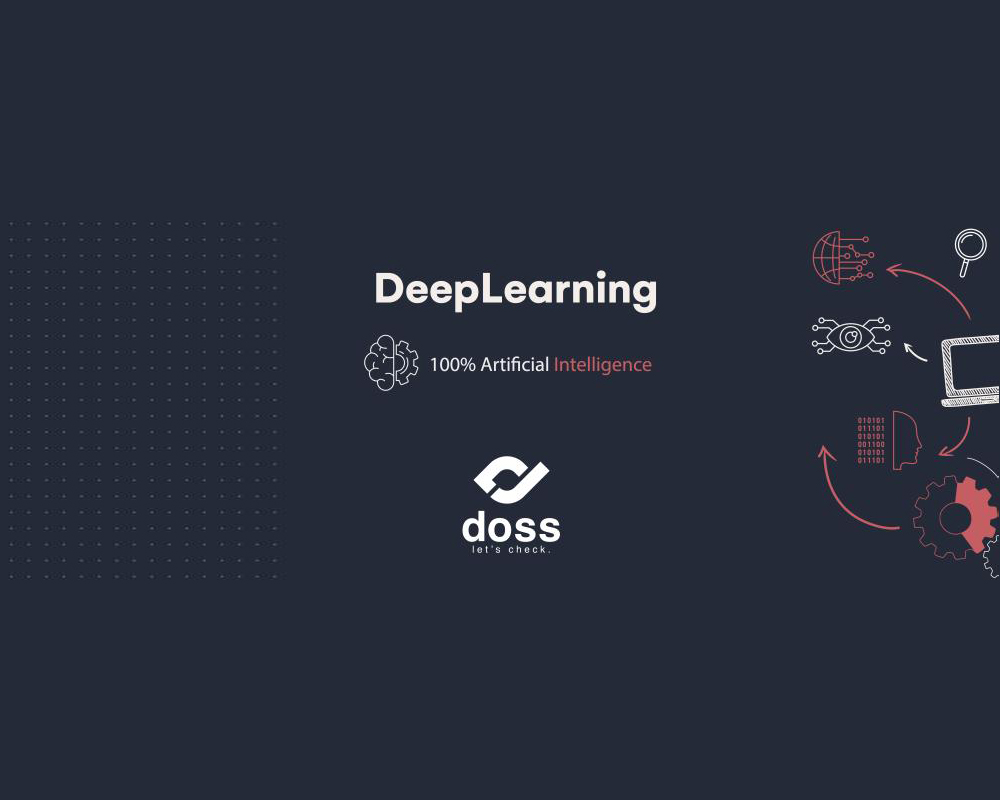 Deep learning artificial intelligence concept with dark colors
