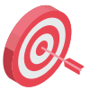 Red bullseye with arrow icon