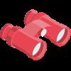 Red binoculars icon