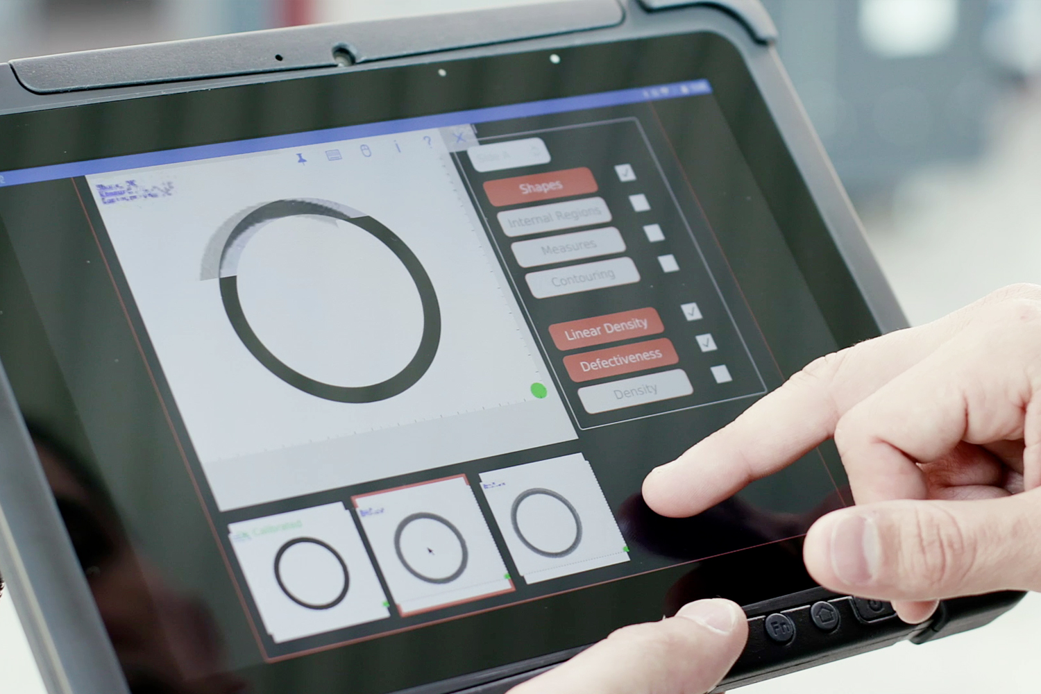 touch screen controls for digital imaging software by Doss Visual Solutions, USA